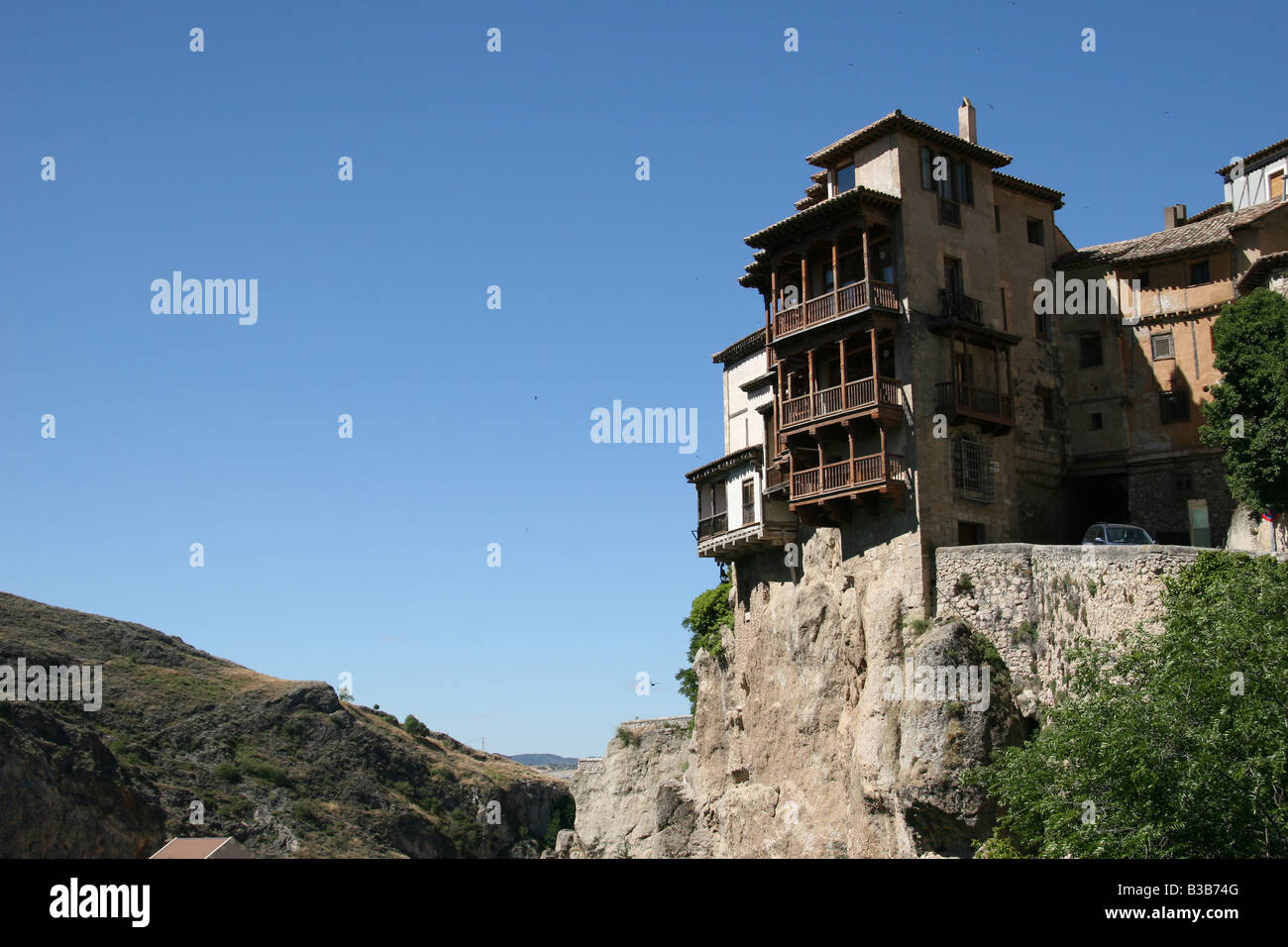 The Hanging Houses And Cliffs Of Cuenca, Spain Over The River Gorge
