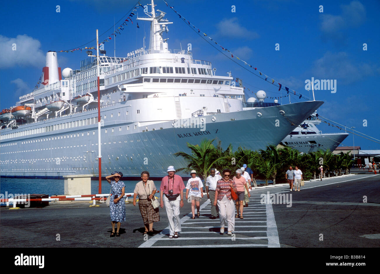Cruise Ships In Port Of Oranjestad On The Island Of Aruba Stock - Cruise ships in aruba