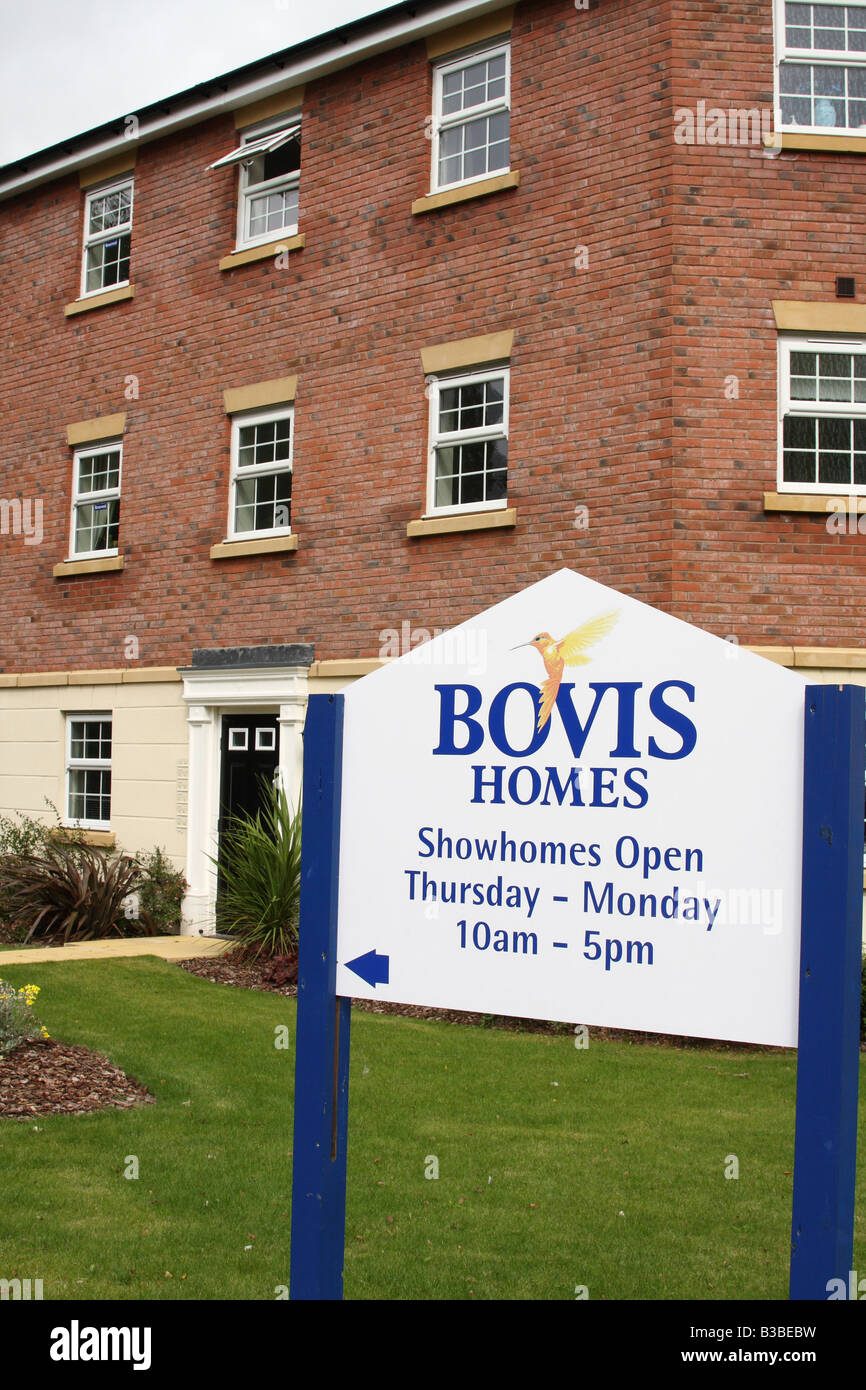 New build homes for sale on a bovis homes construction for On site home builders