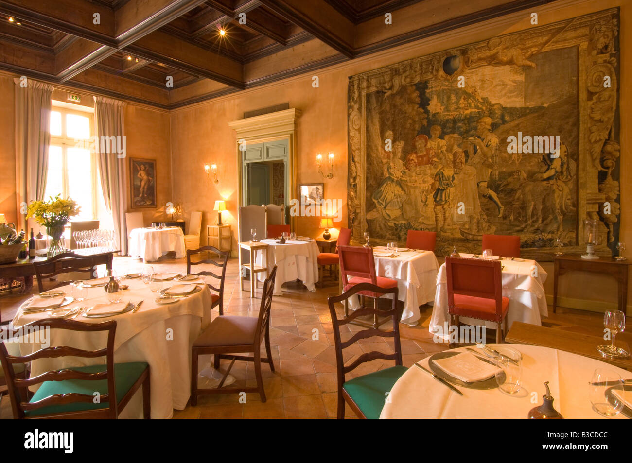 europe france provence avignon la mirande hotel restaurant tapestry stock photo royalty free. Black Bedroom Furniture Sets. Home Design Ideas