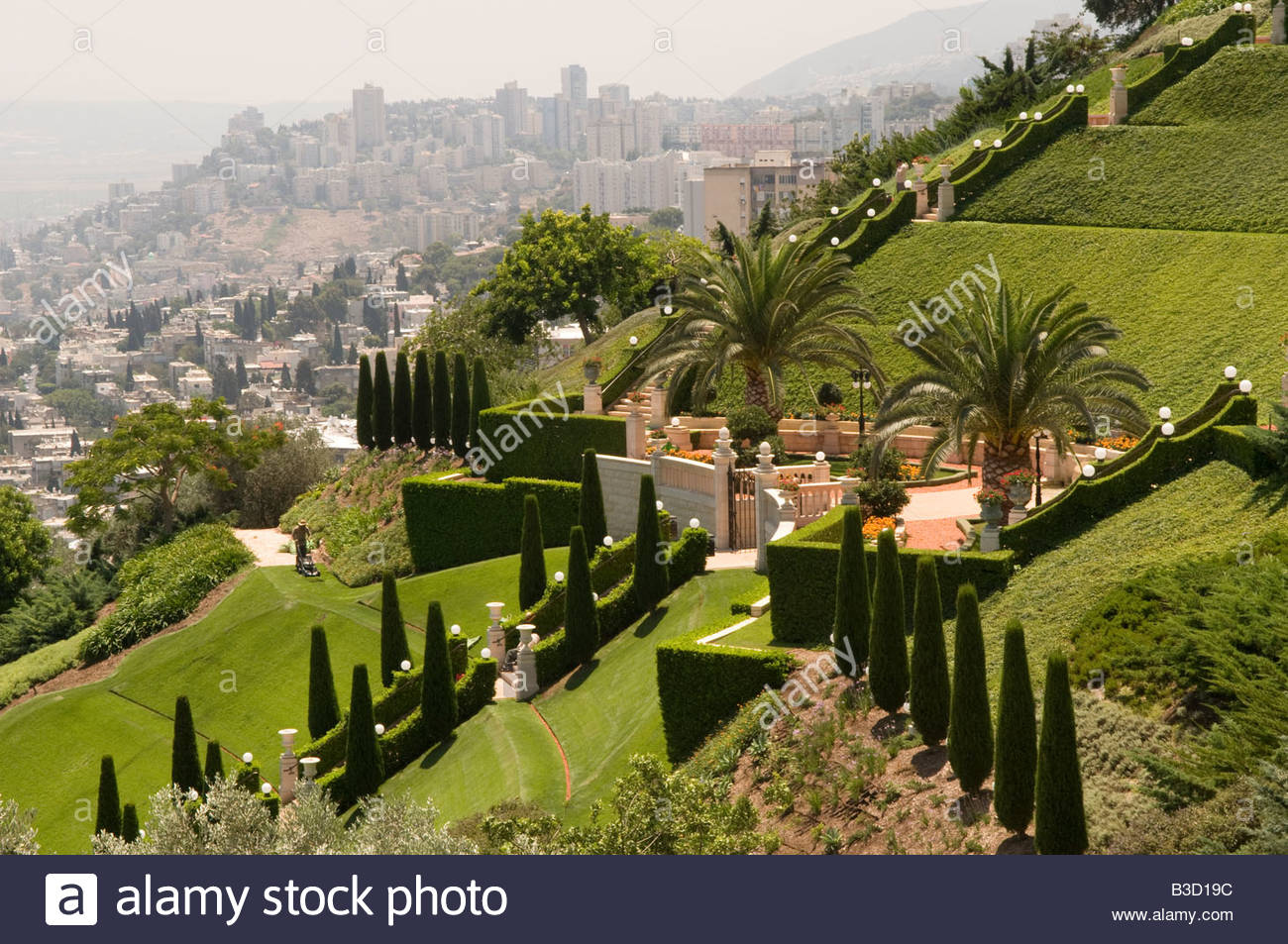 Uncategorized Terraced Gardens a general view shows the terraced gardens of bahai world centre in israeli port city haifa