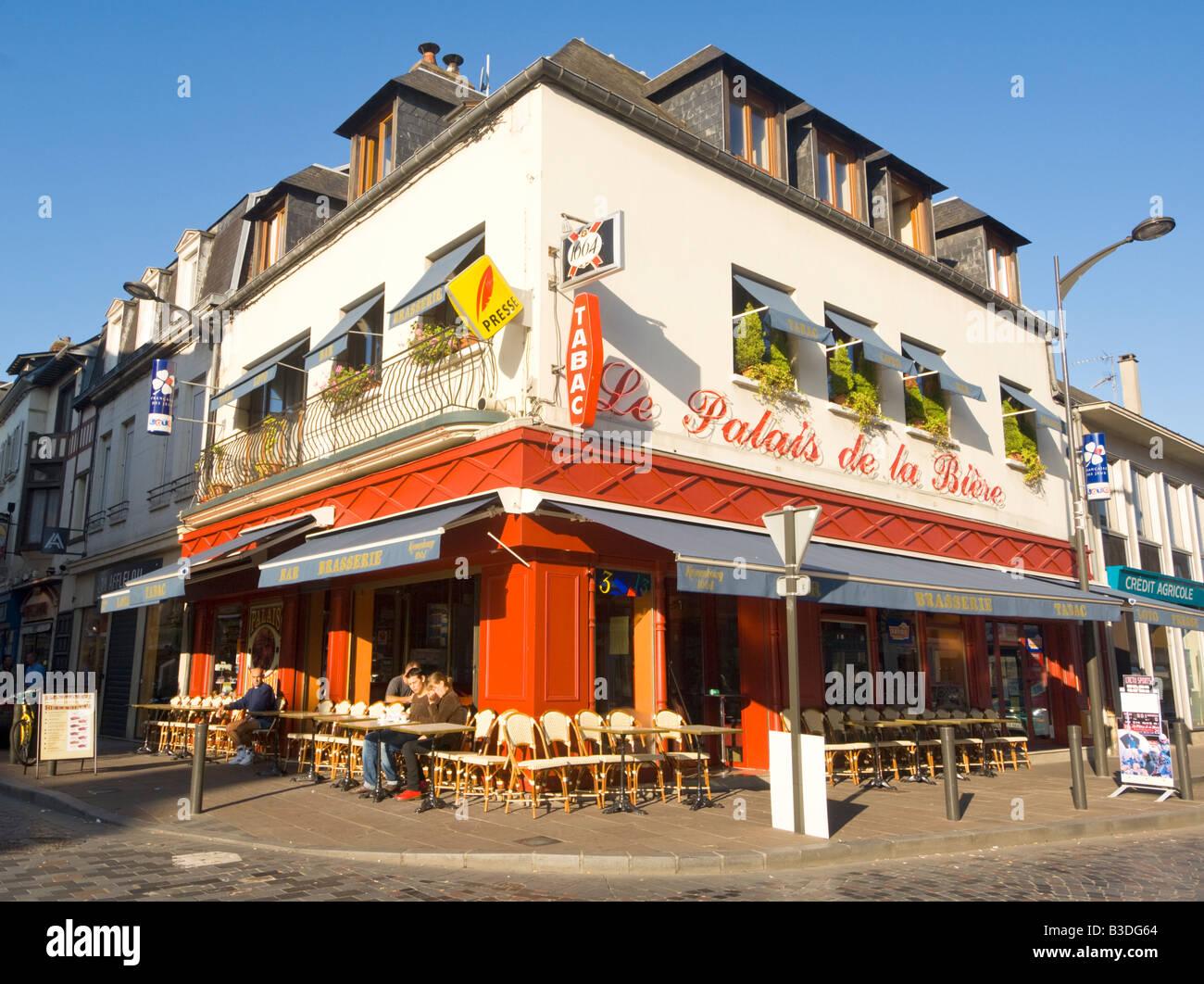 Caf le palais de la biere pont audemer normandy france stock photo royalty free image - Le royal pont audemer ...