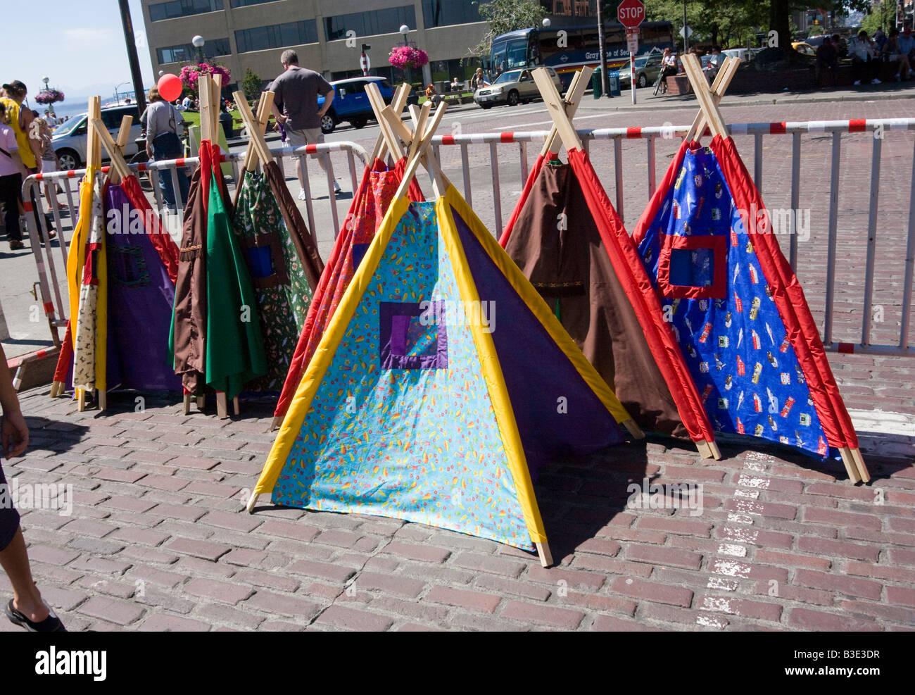 Childrenu0027s wigwam tents for sale Pike Place Farmers Market Seattle Washington State WA USA & Childrenu0027s wigwam tents for sale Pike Place Farmers Market Seattle ...