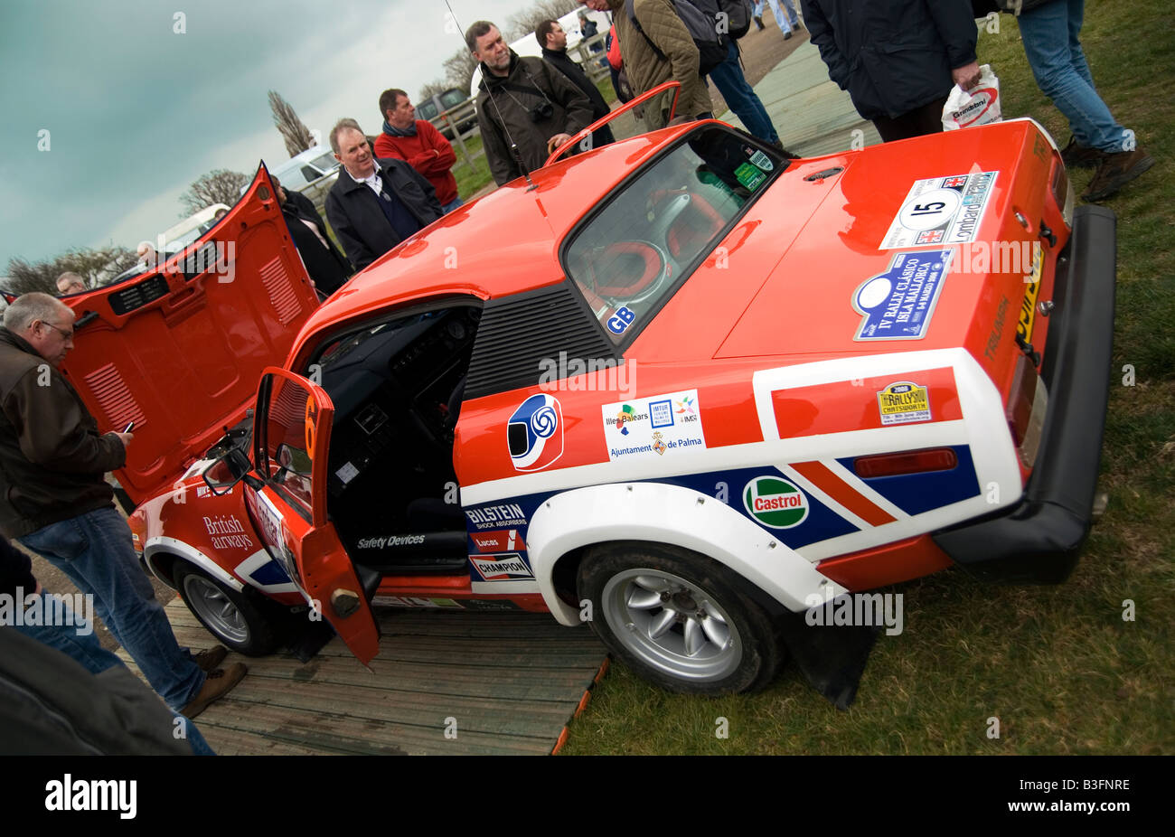 Triumph TR7 V8 rally car at a Historic Motorsport Show in Coventry ...