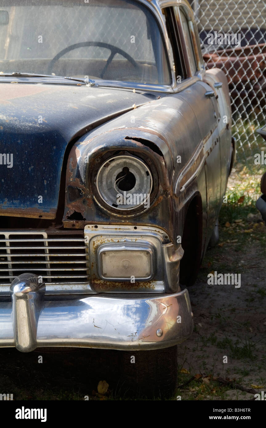 1956 chevy junkyard scrap car cars old forlorn abandoned rusty ...