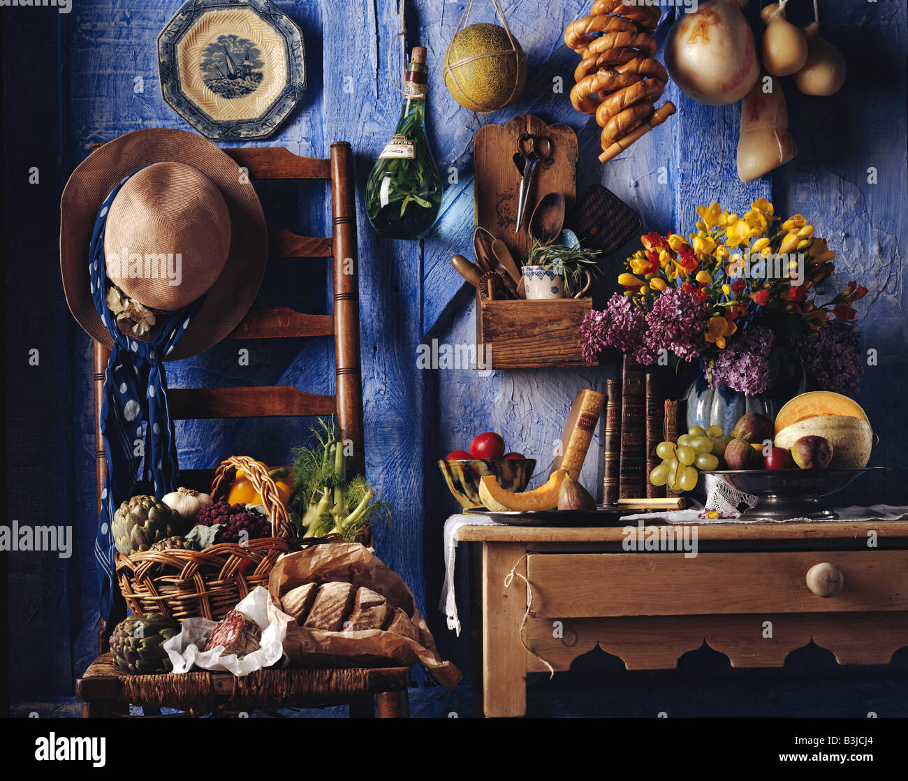 stock photo rustic kitchen table editorial food rustic kitchen table Rustic kitchen table editorial food