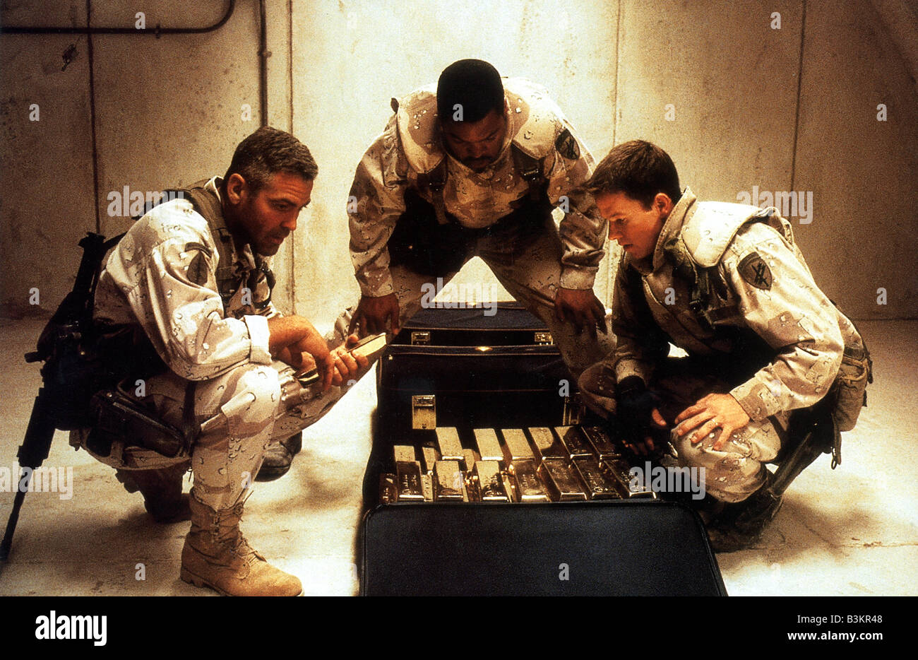 three kings 1999 warner film with from left george clooney ice cube and mark wahlberg