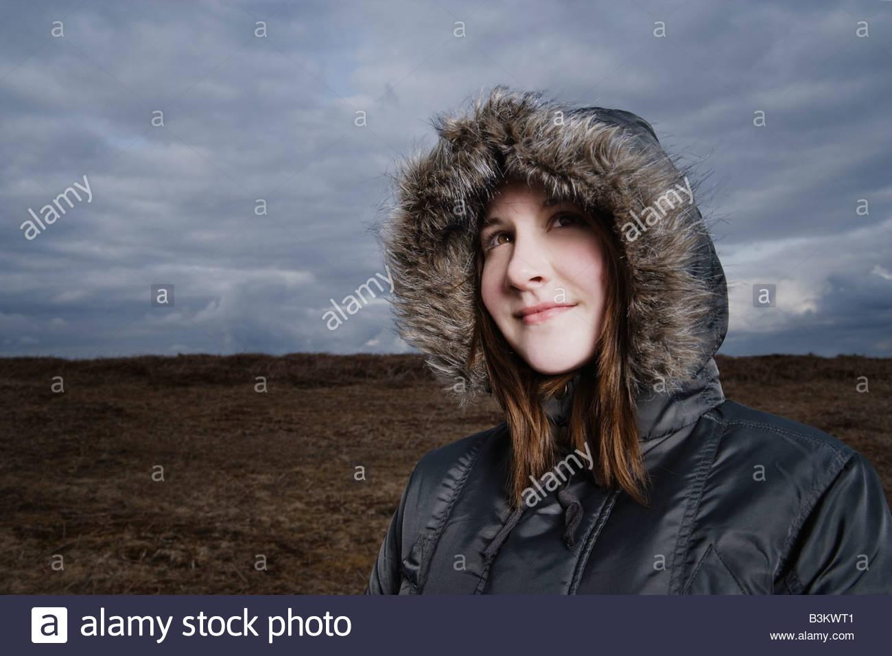 Teens in fur hood — img 2
