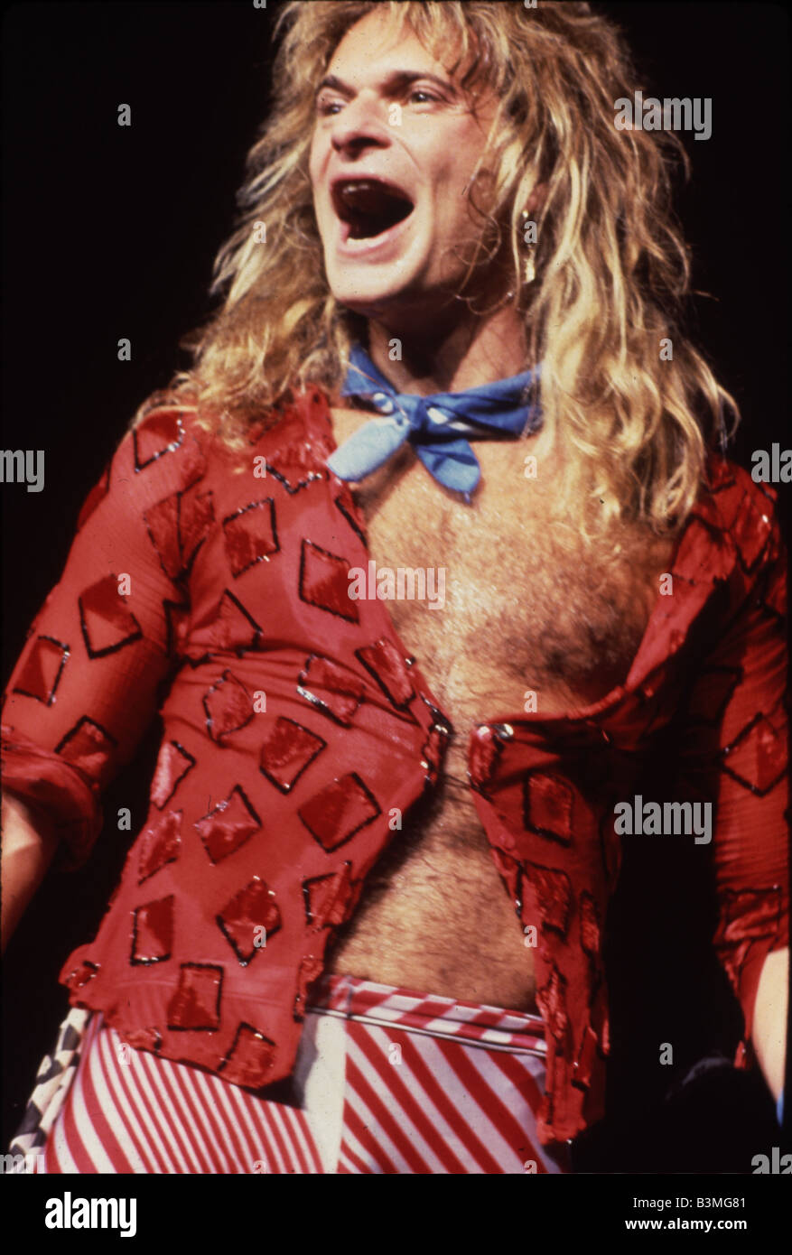 DAVID LEE ROTH US rock musician Stock Royalty Free Image