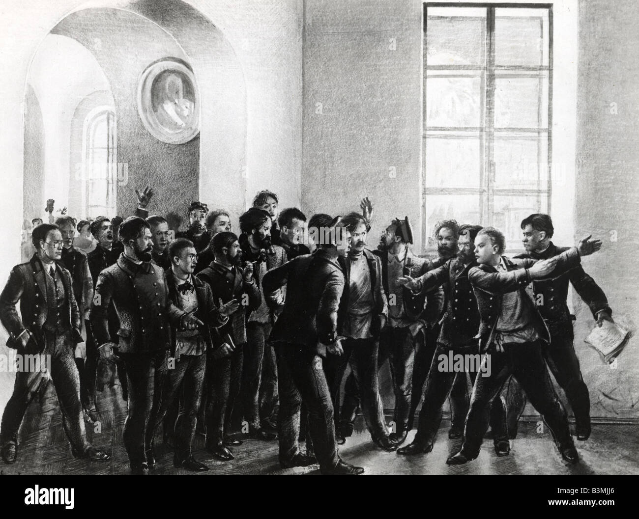 russian drawing stock photos russian drawing stock images  vladimir lenin leading a student protest at the kazan state university from a 1940s drawing
