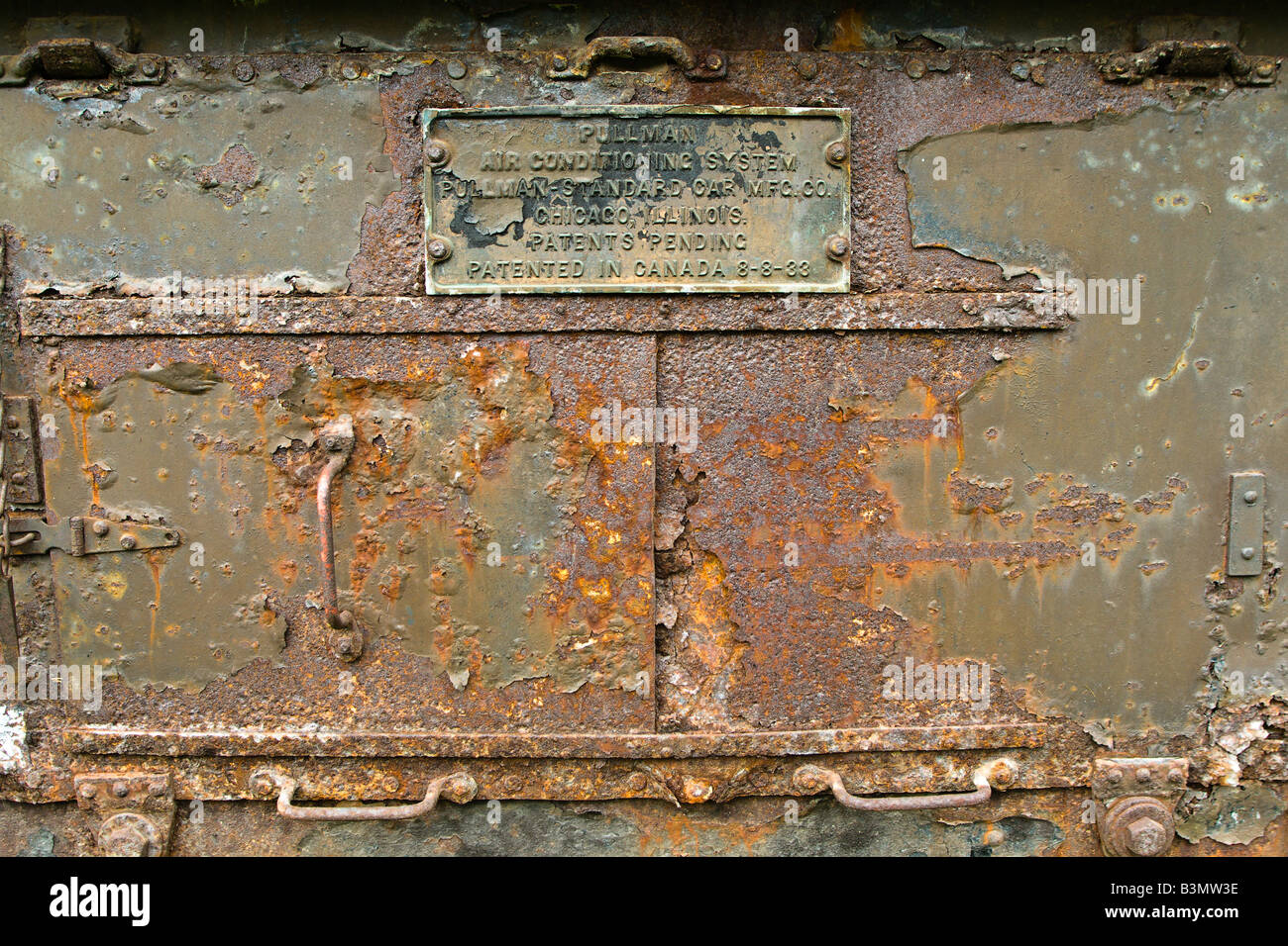 the access door to an old airconditioning unit from the 1930's and