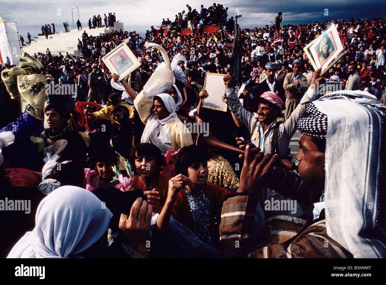 Jubilant Crowd Jubilant Crowd at a Rally Held