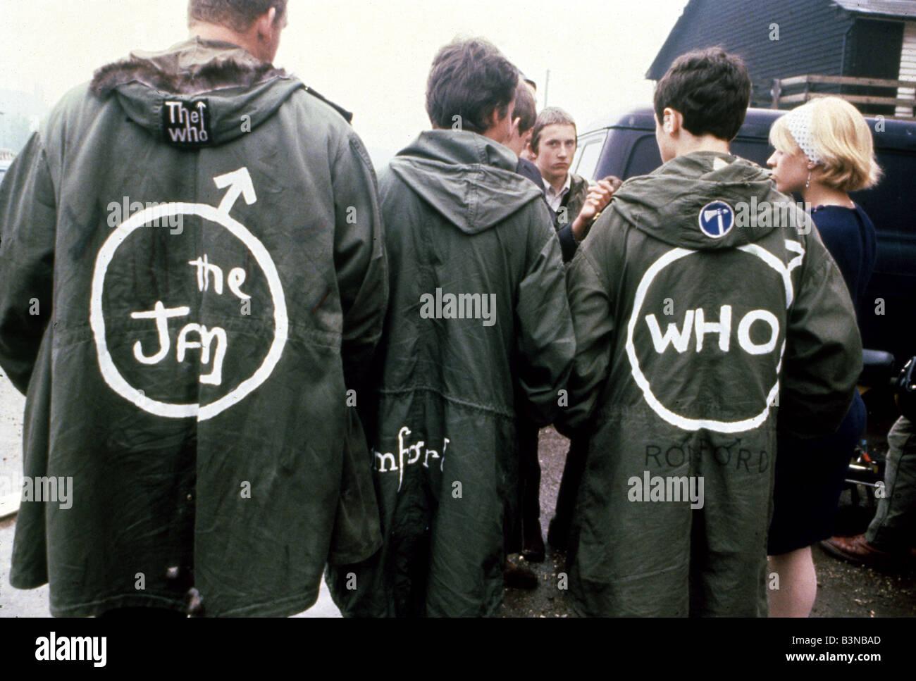 Mods Teenage Mods Wearing Parka Coats In London In 1980 Stock