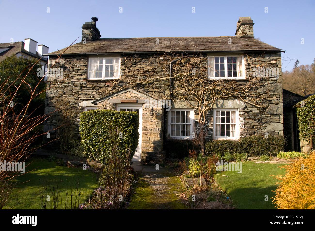 English Lakeland Country Stone Cottage