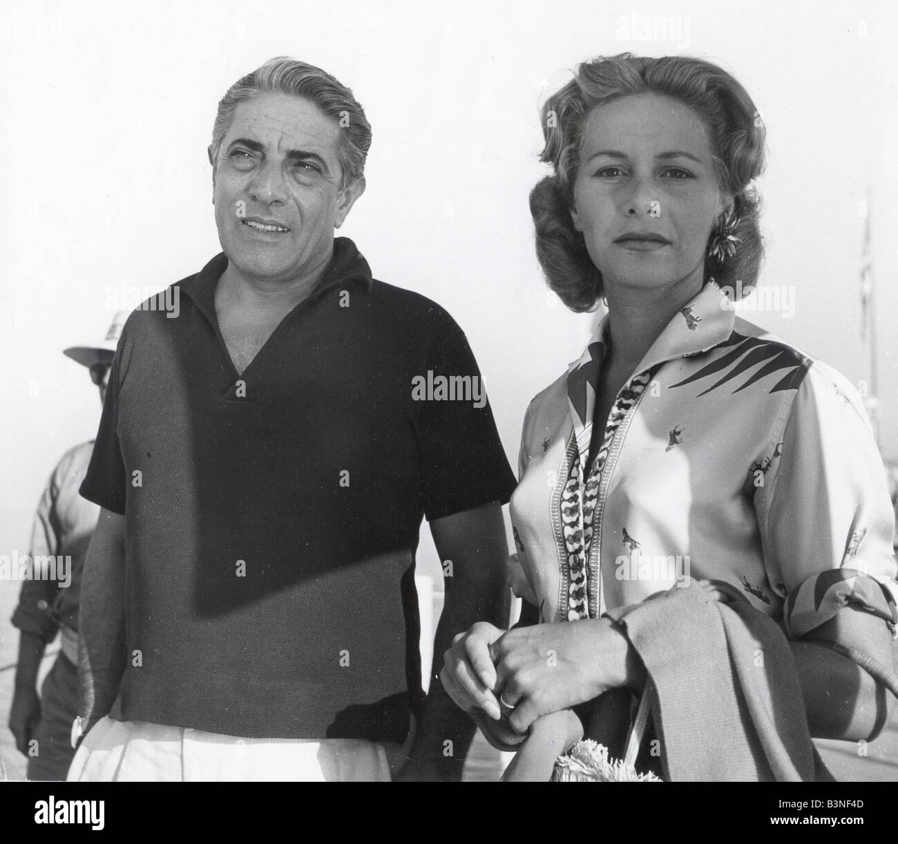 Black and white baby mobile designed and made in australia by tina - Aristotle Onassis And Wife Tina At The Venice Film Festival In 1957 Stock Image