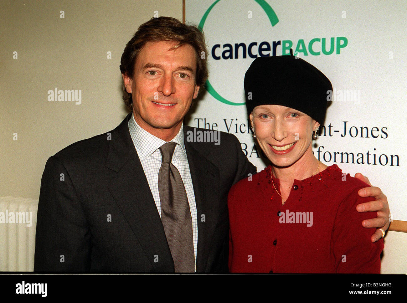 Actor Nigel Havers With His Wife Polly November 2000 At