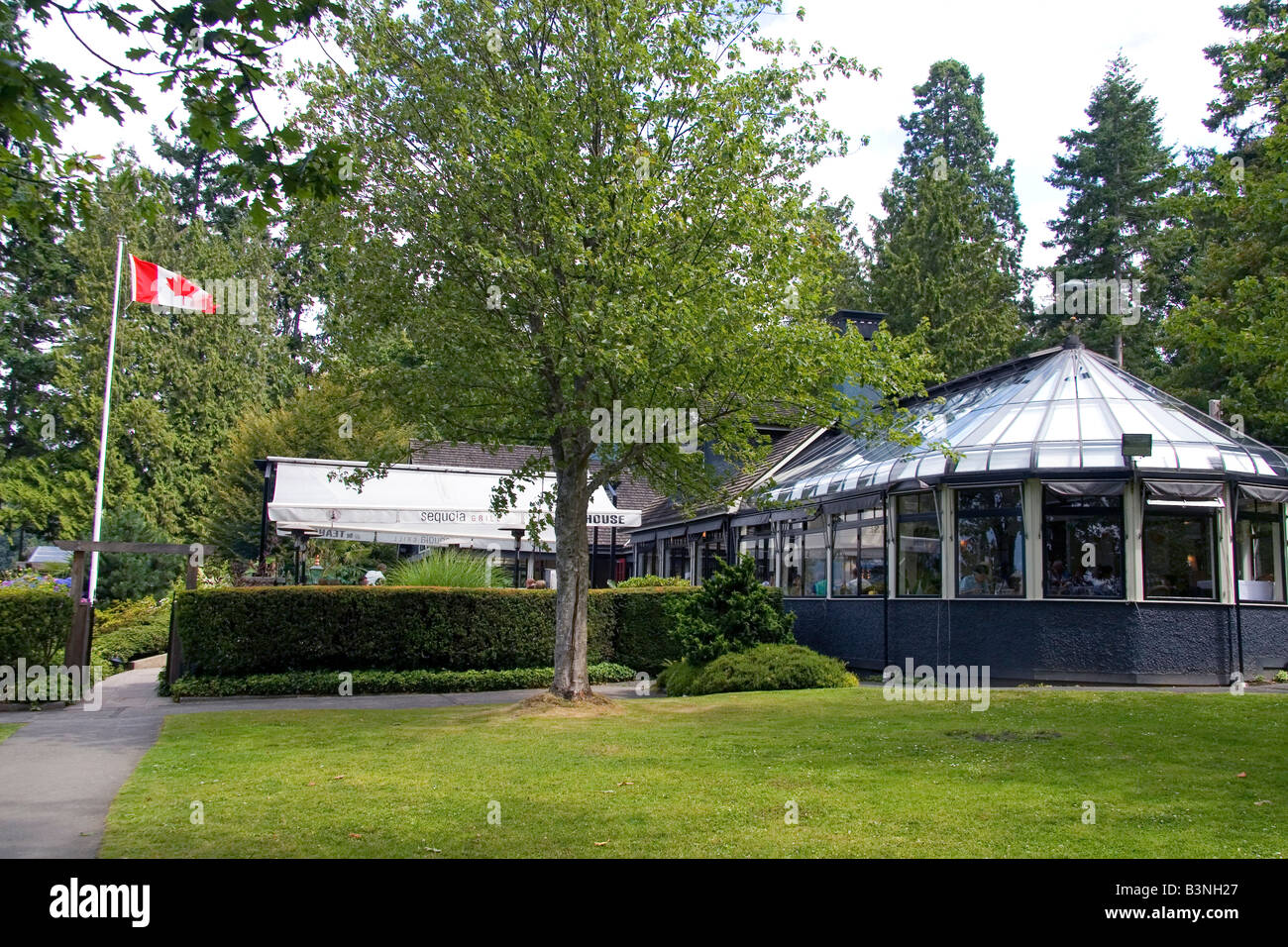 Sequoia Grill At The Teahouse In Stanley Park At Vancouver British Stock Photo Royalty Free