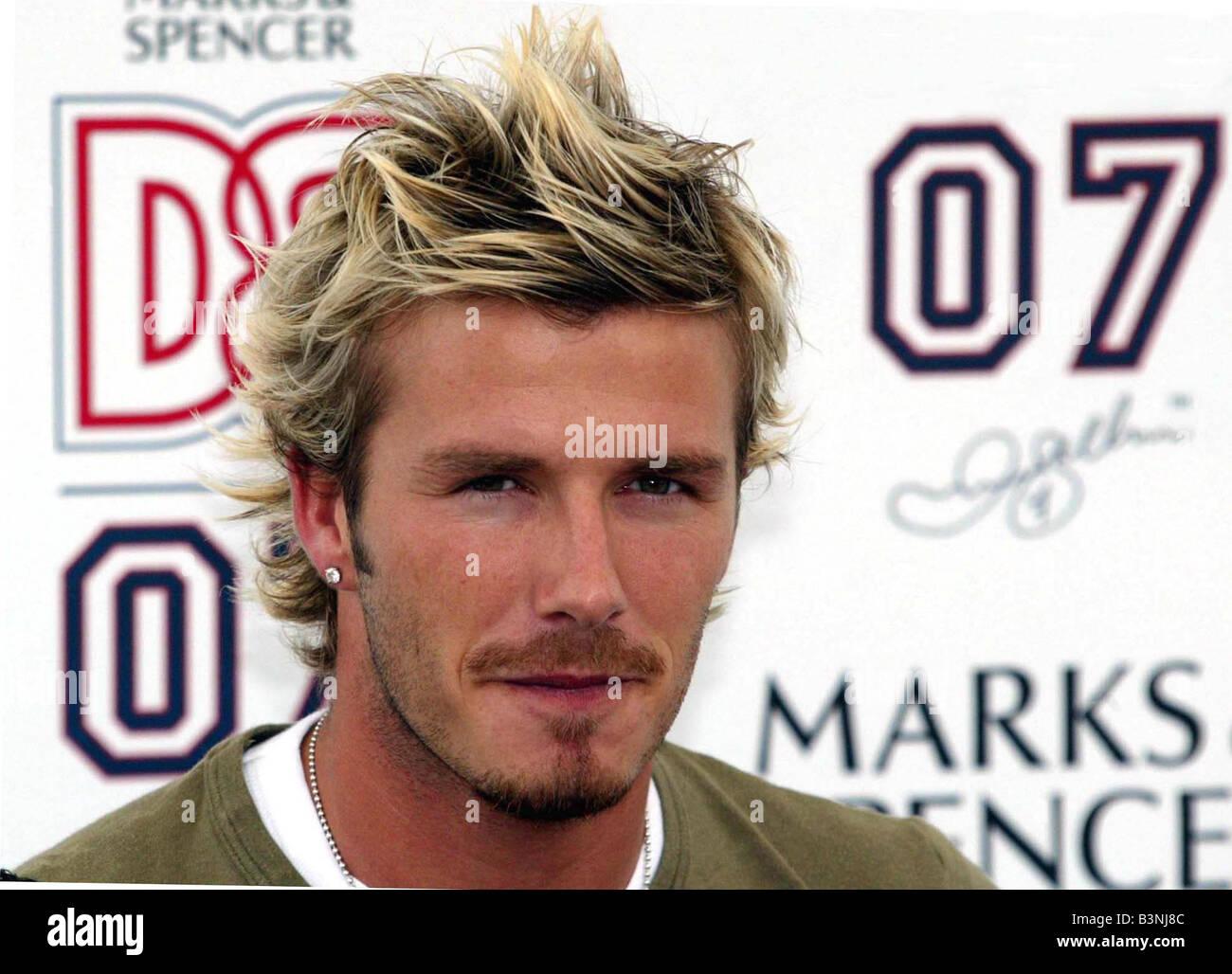 David Beckham Hair 2002 David Beckham Septembe...