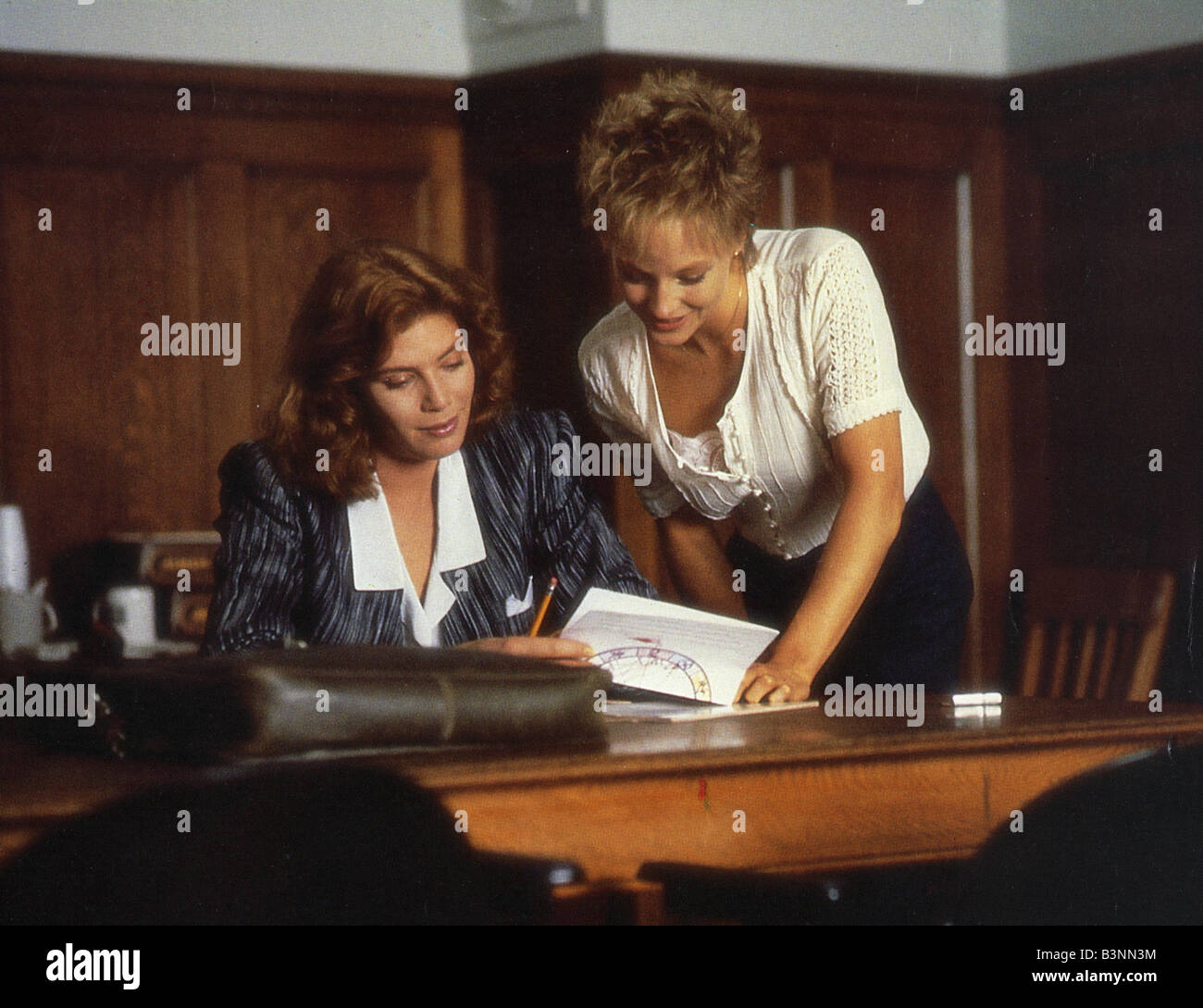 the accused uip paramount film kelly mcgillis at left stock photo the accused 1988 uip paramount film kelly mcgillis at left and jody foster