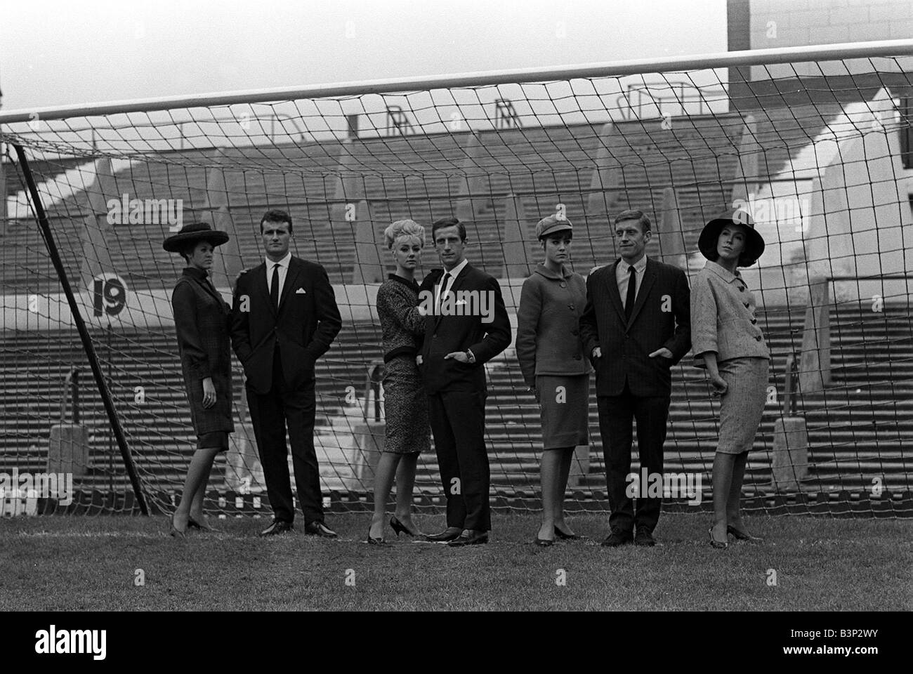 Noel Cantwell Of Manchester United September 1963 With Models And Stock Photo Royalty Free
