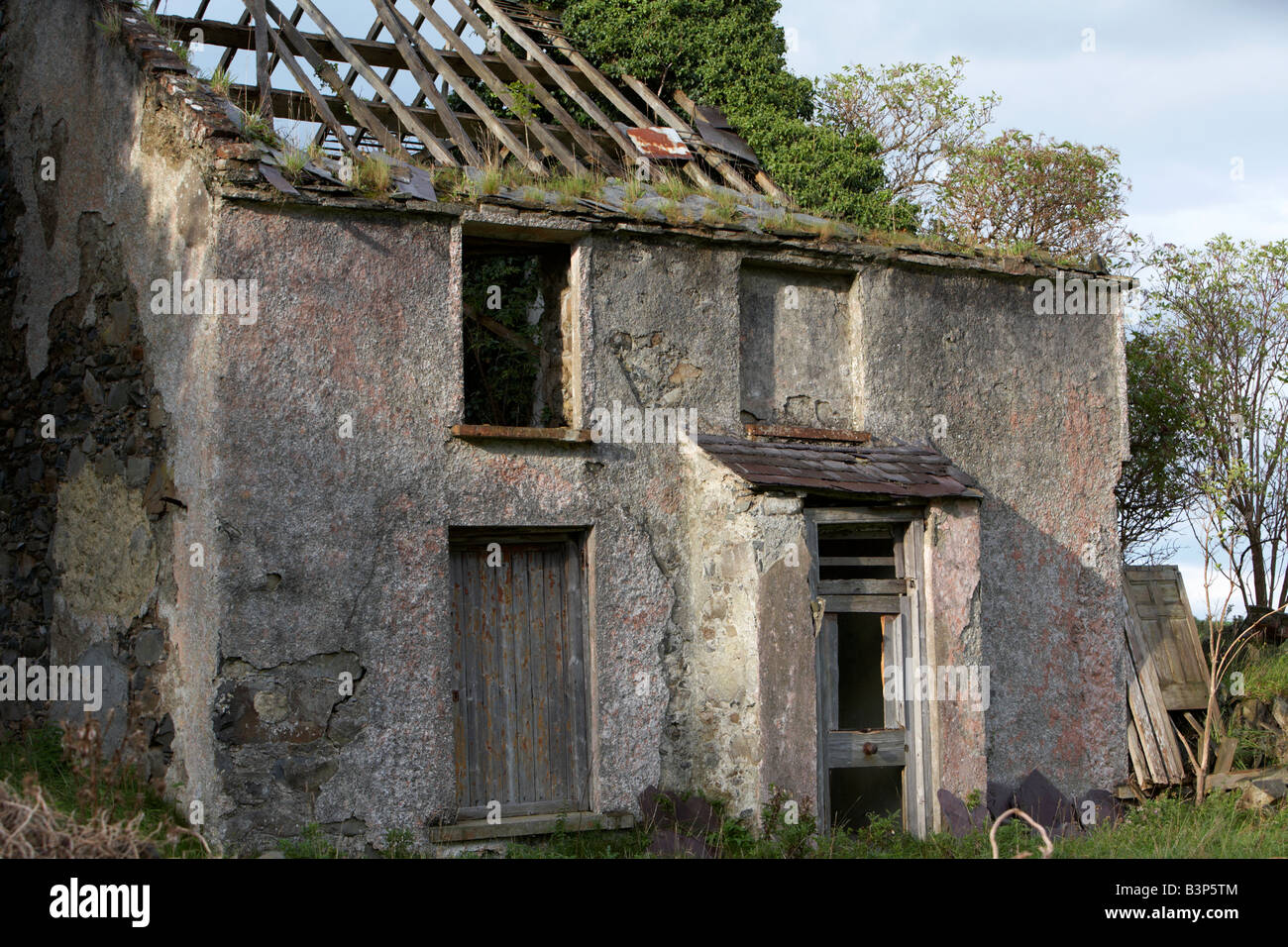 Abandoned Ruined Old Irish Farmhouse County Down Northern