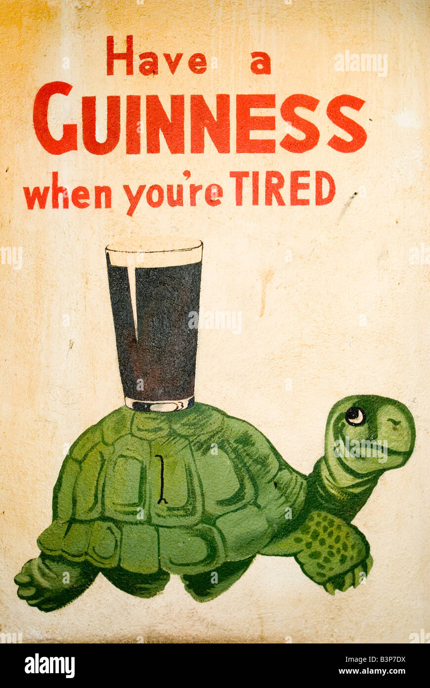Warning turtles amp tortoises inc - An Old Hand Painted Guinness Advert Adorns The Inside Of A Traditional Irish Pub In Dublin