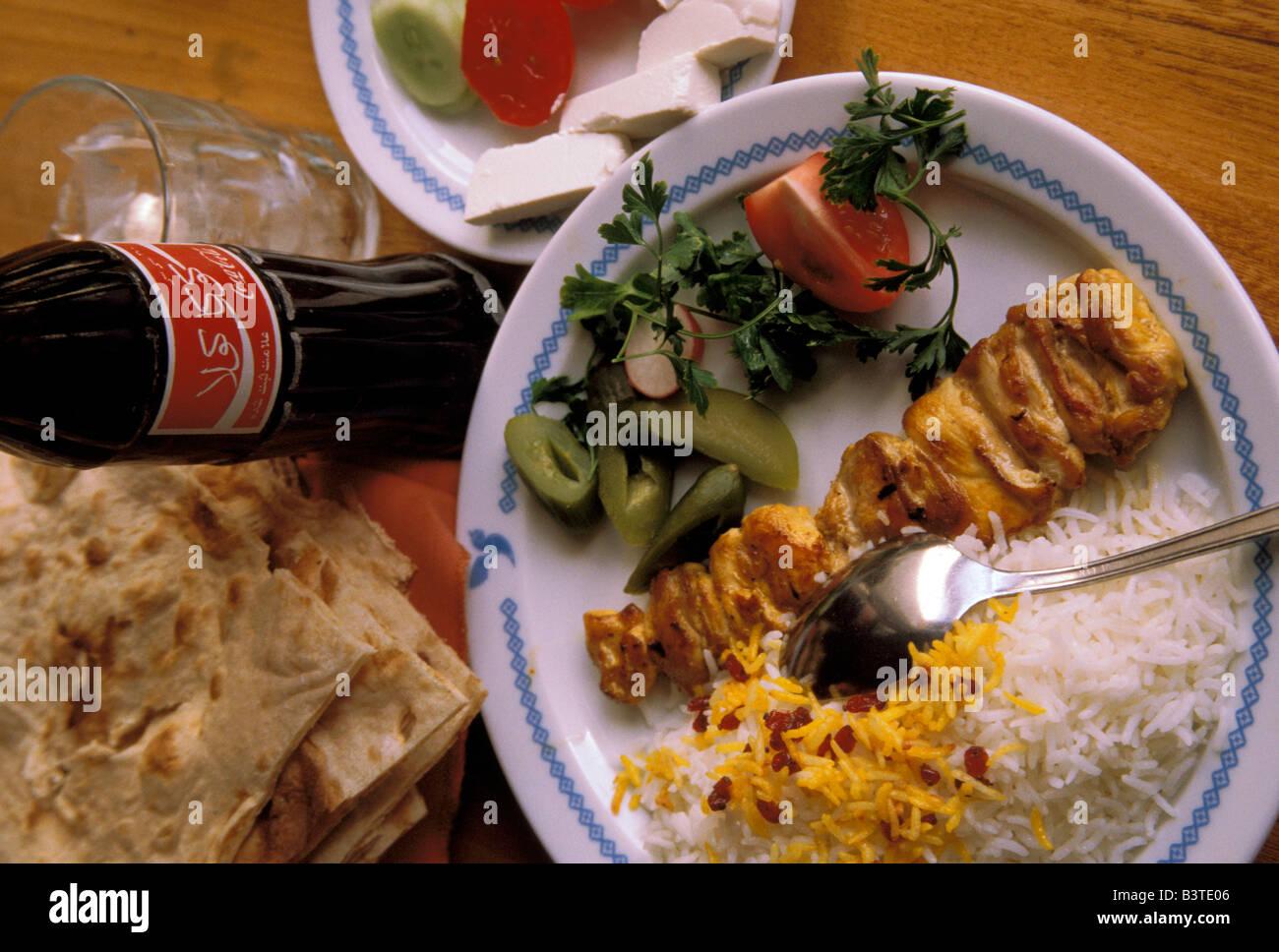 Asia Iran Mashhad Contemporary Iranian Cuisine Stock Photo - Cuisine iranienne