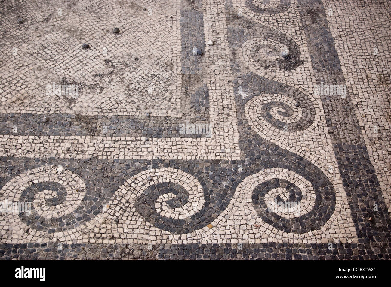 Mosaic floor patterns in the House of the Faun. Europe  Italy  Campania  Pompeii  Mosaic floor patterns in the