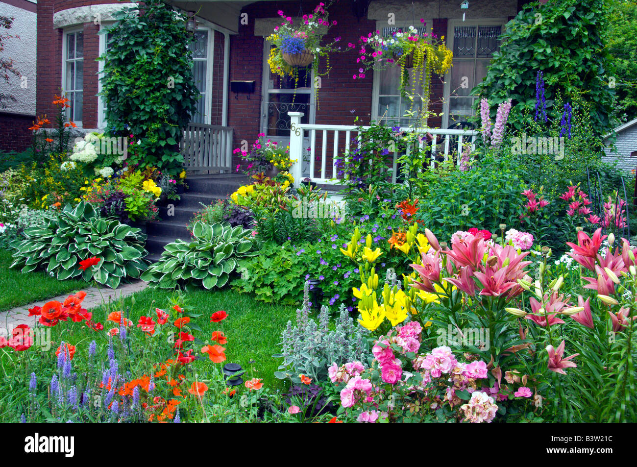 wolseley area home with decorative spring flowers in the