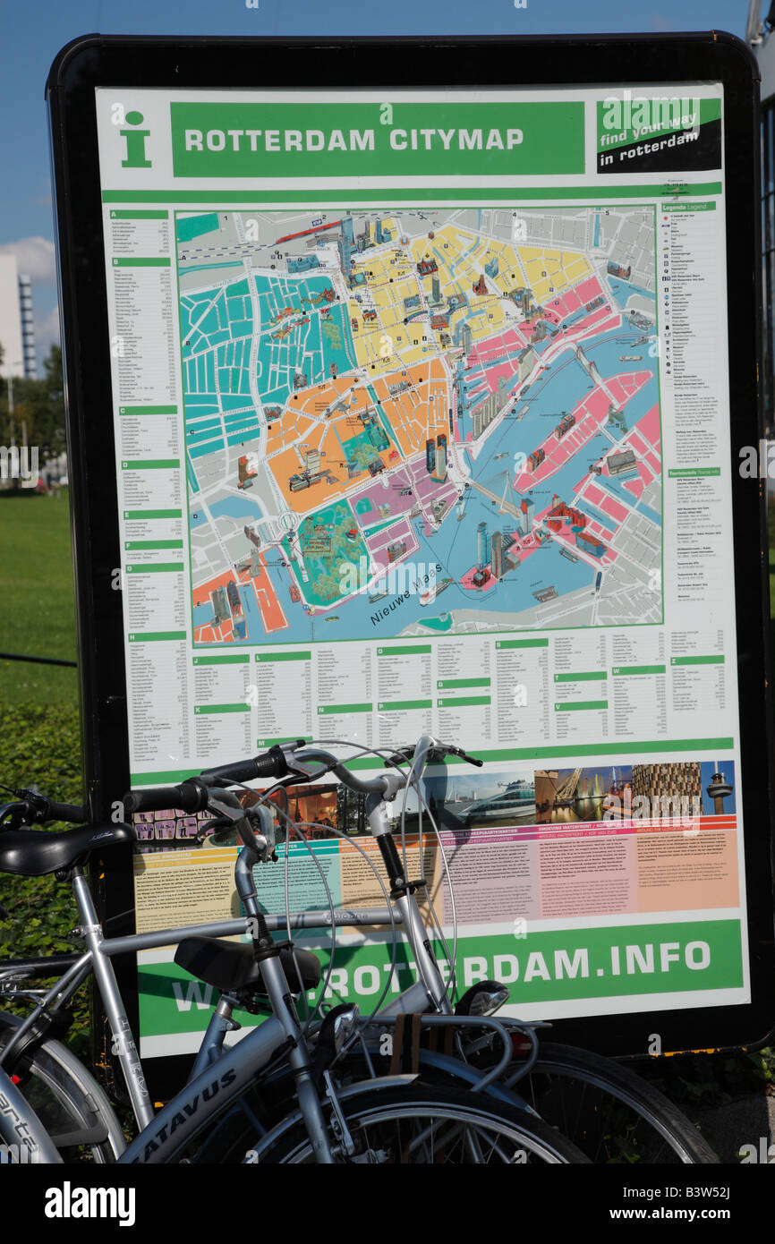 Street City map of Rotterdam Netherlands Stock Photo Royalty