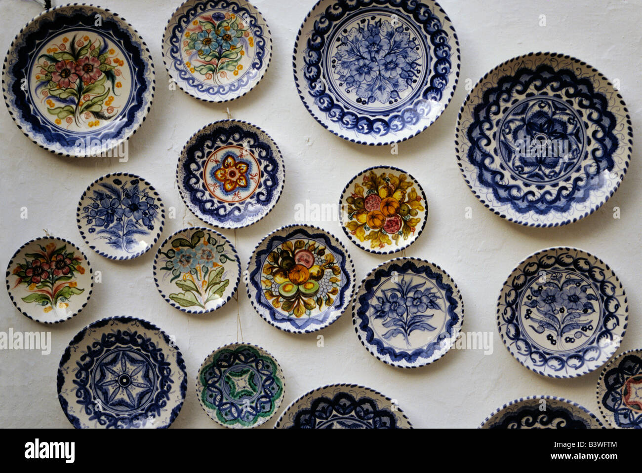 Ceramic plates display at shop in Juderia Old Jewish quarter in ...