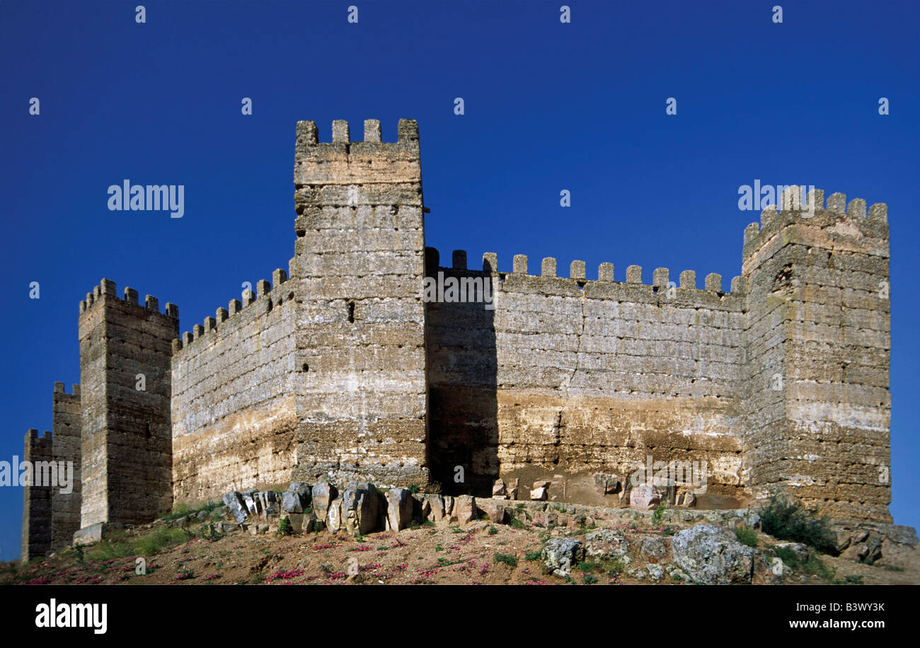 Moorish castillo de burgalimar at ba os de la encina spain stock photo royalty free image - Banos de la encina espana ...