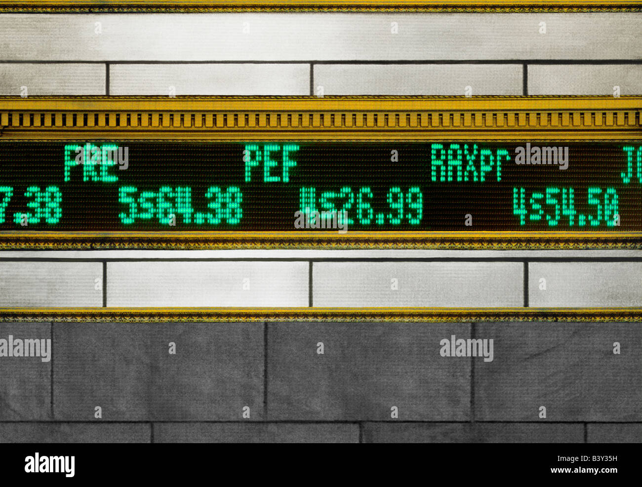 USA New York Wall Street Stock Market Data Stock Ticker ...