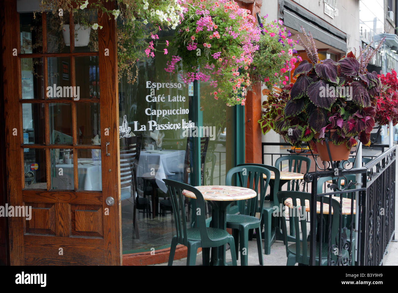 Cafe Restaurant With Outdoor Patio On Yonge Street In Toronto Ontario Canada