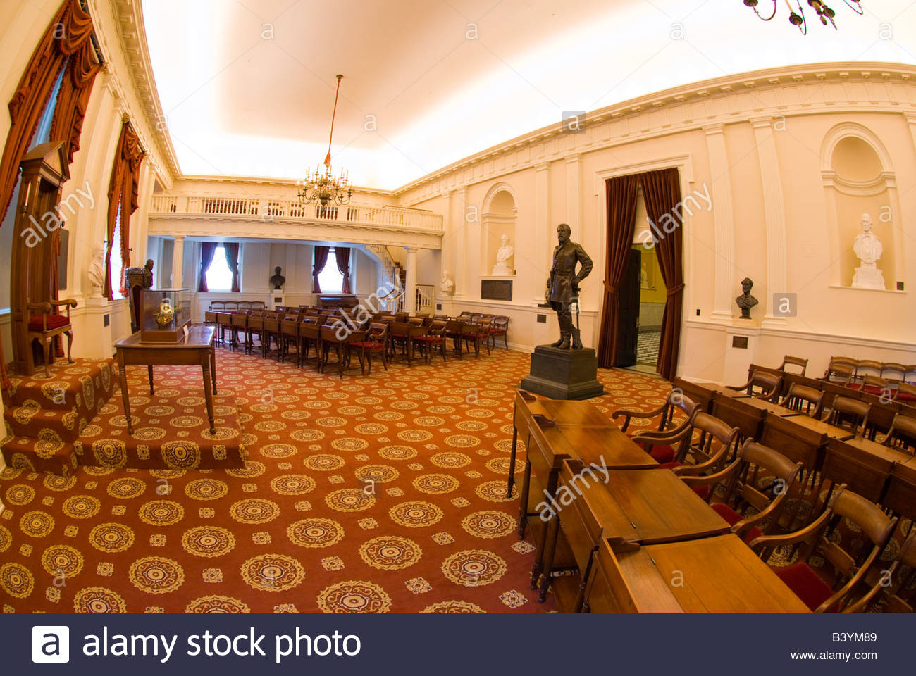 Old House Chamber Virginia State Capitol Richmond Virginia USA - Va which state in usa