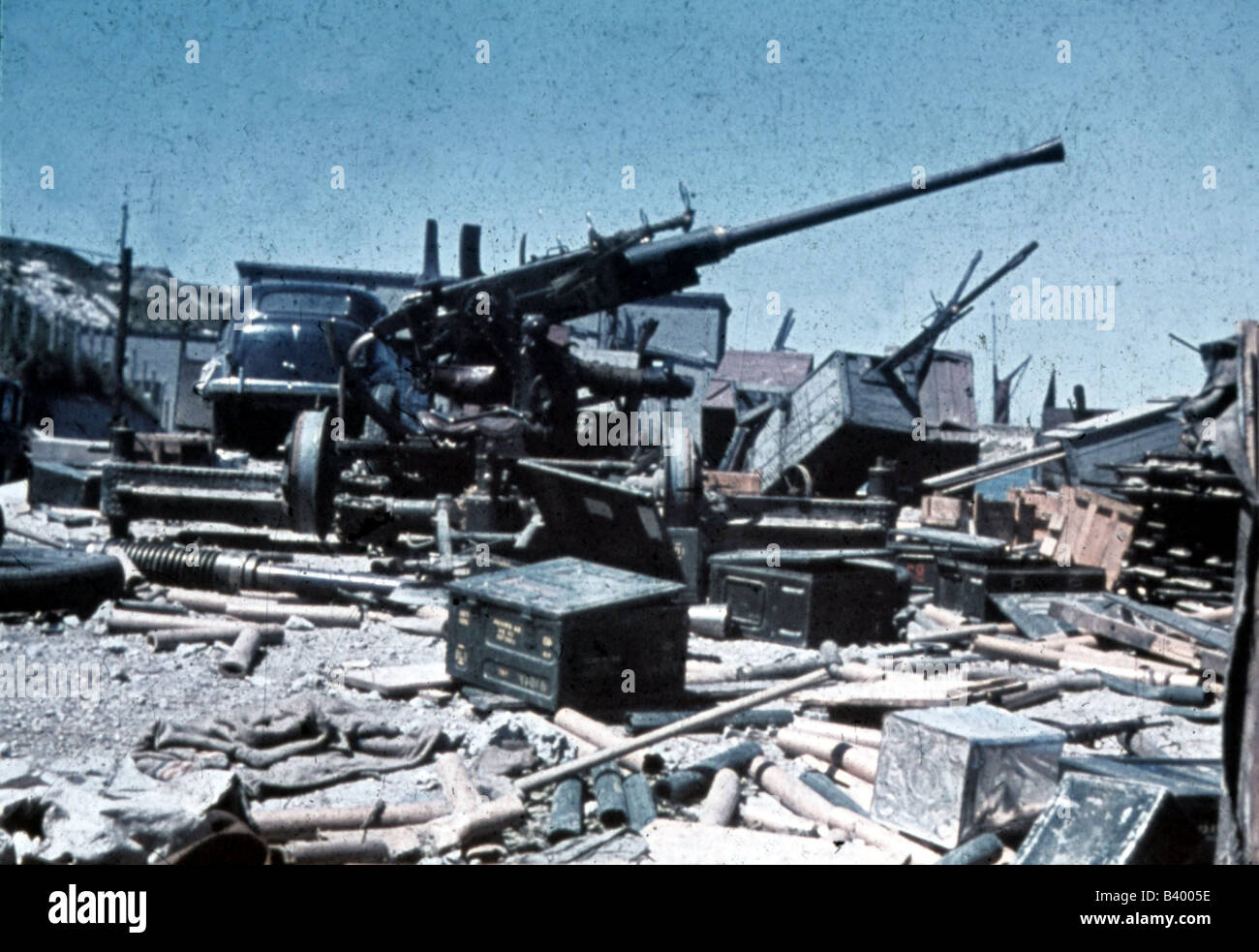 defeat in war. stock photo events second world warwwii france dunkirk june 1940 british equipment left behind defeat 20th century historic histor in war