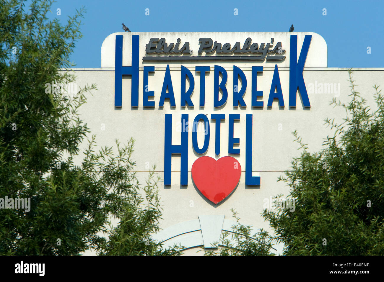 Heartbreak hotel memphis tennessee usa stock photo for Graceland hotel memphis tn