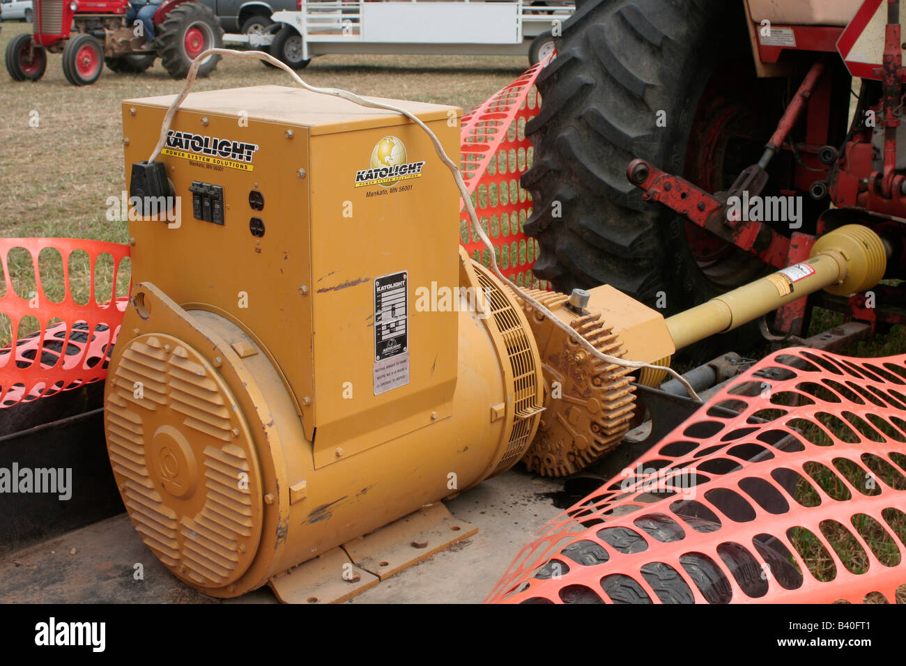 Electrical Shaft Drive Tractor : Large power take off pto shaft driven electric generator