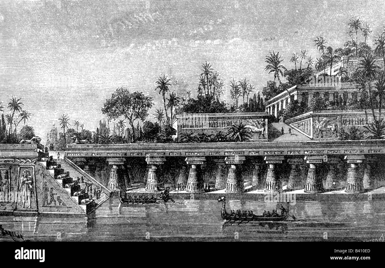 Ancient World Wonder Of The World Hanging Gardens Of Babylon Stock Photo Royalty Free Image