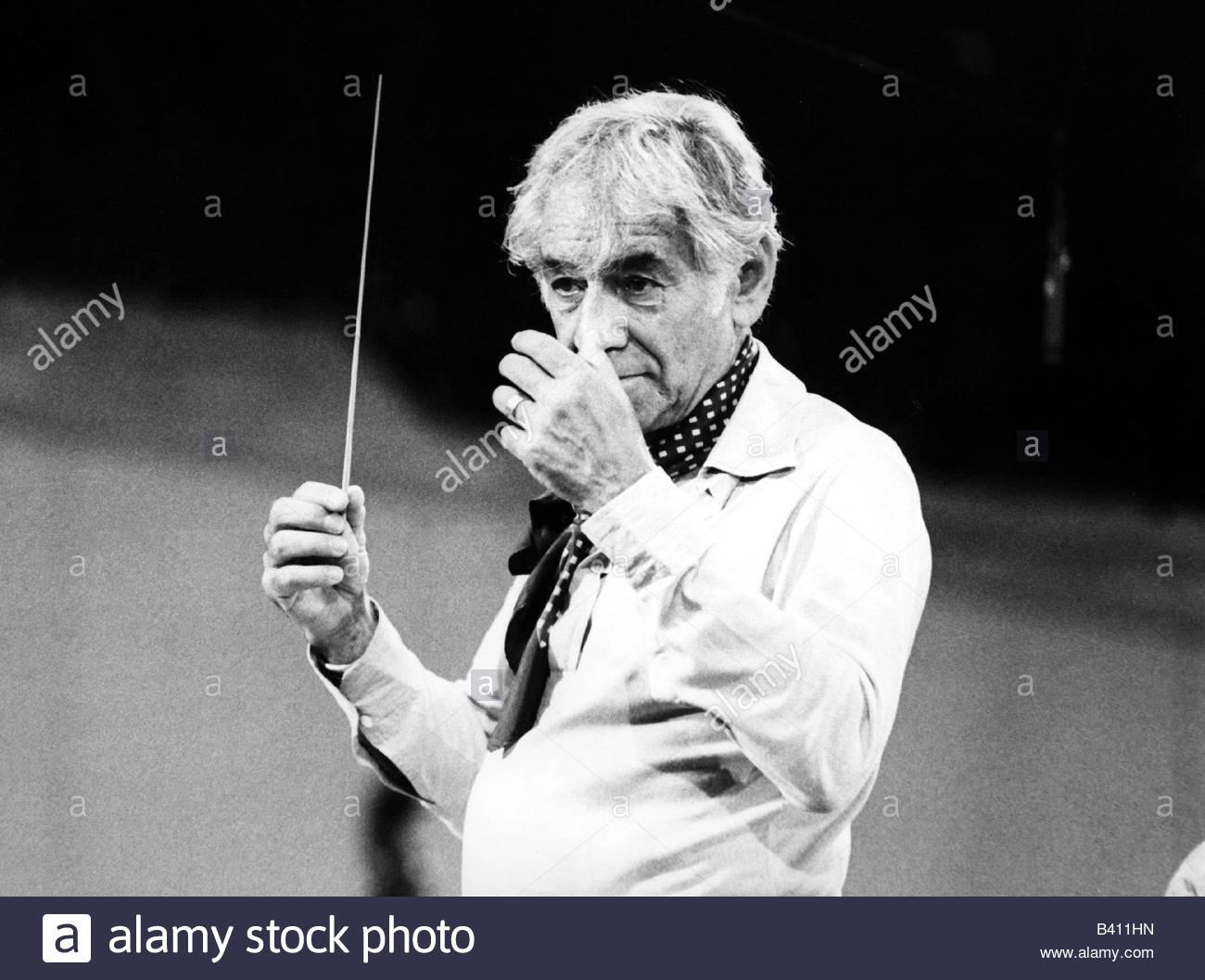Bernstein, Leonard, 25.8.1918 - 14.10.1990, American ...