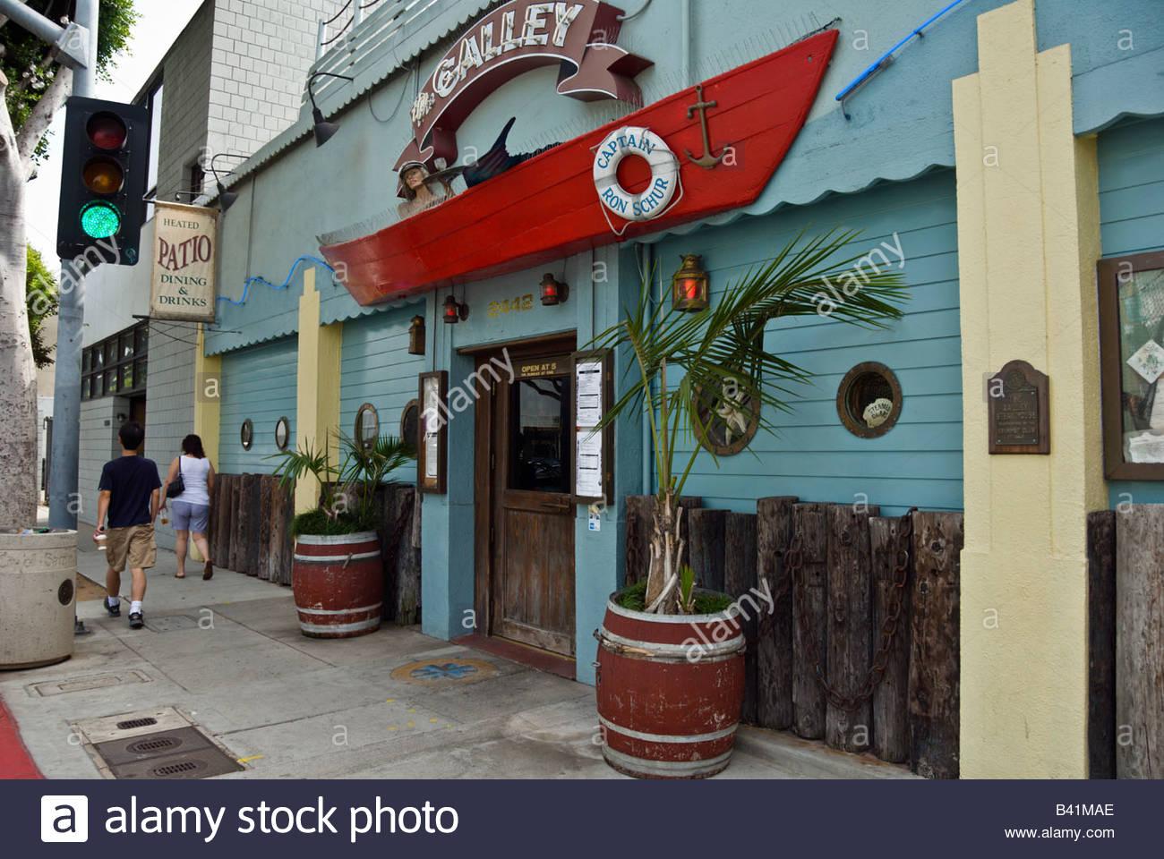 the galley restaurant & bar - santa monica los angeles, california