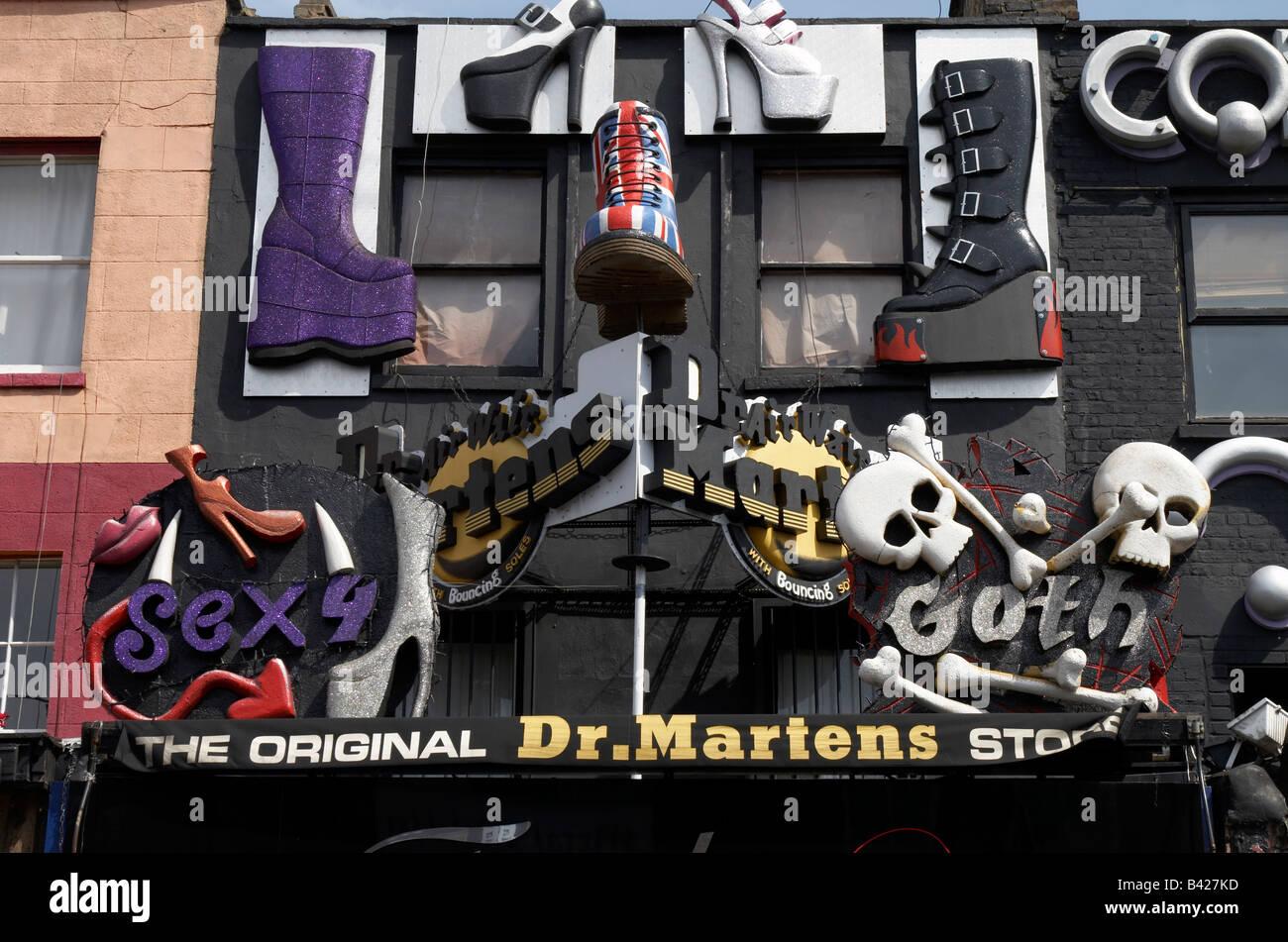 Dr martens in union jack camden high street camden town nw1 stock - Dr Martens Shop In Camden London Stock Photo Royalty