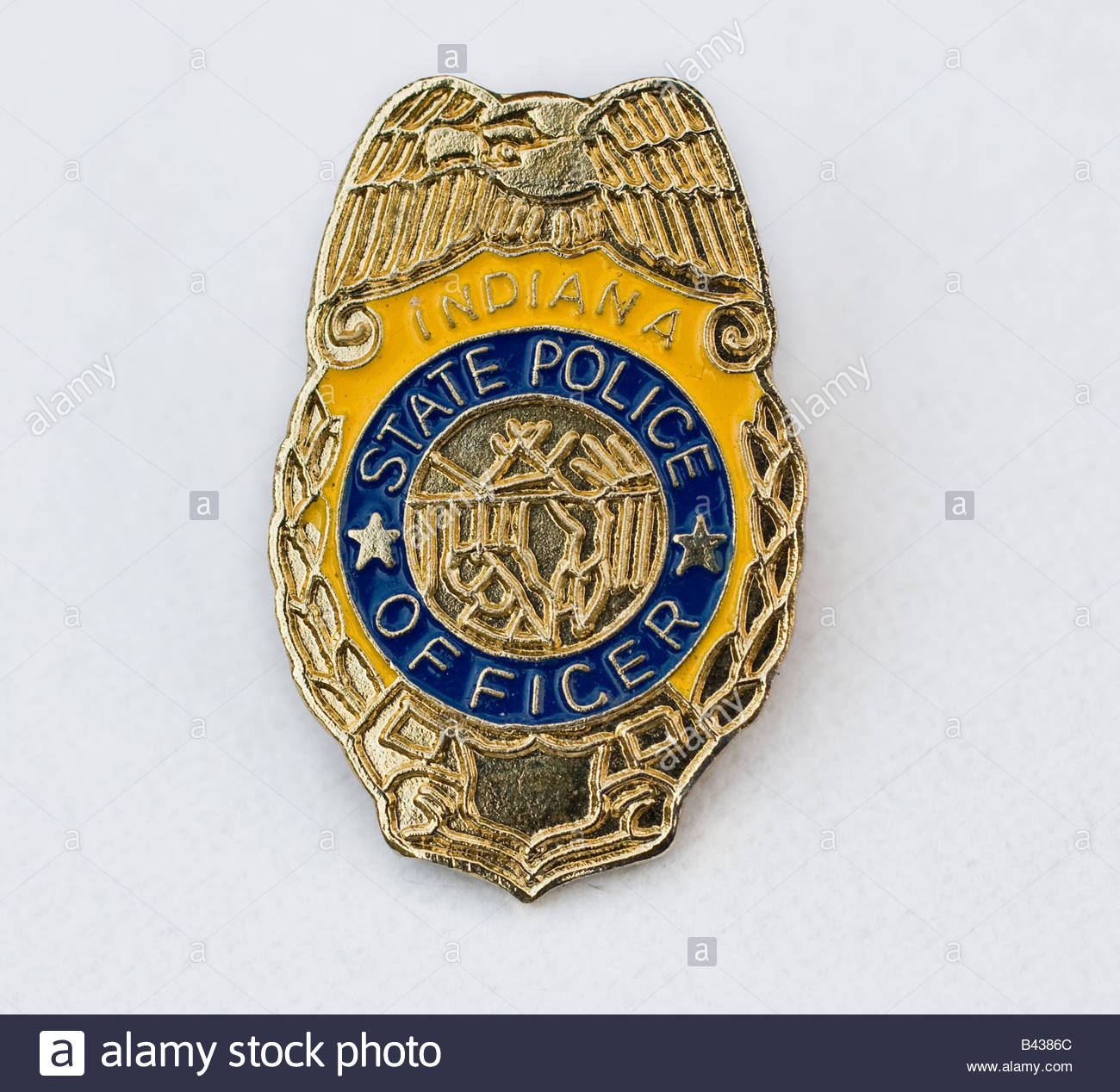 indiana state police badge stock photo royalty free image