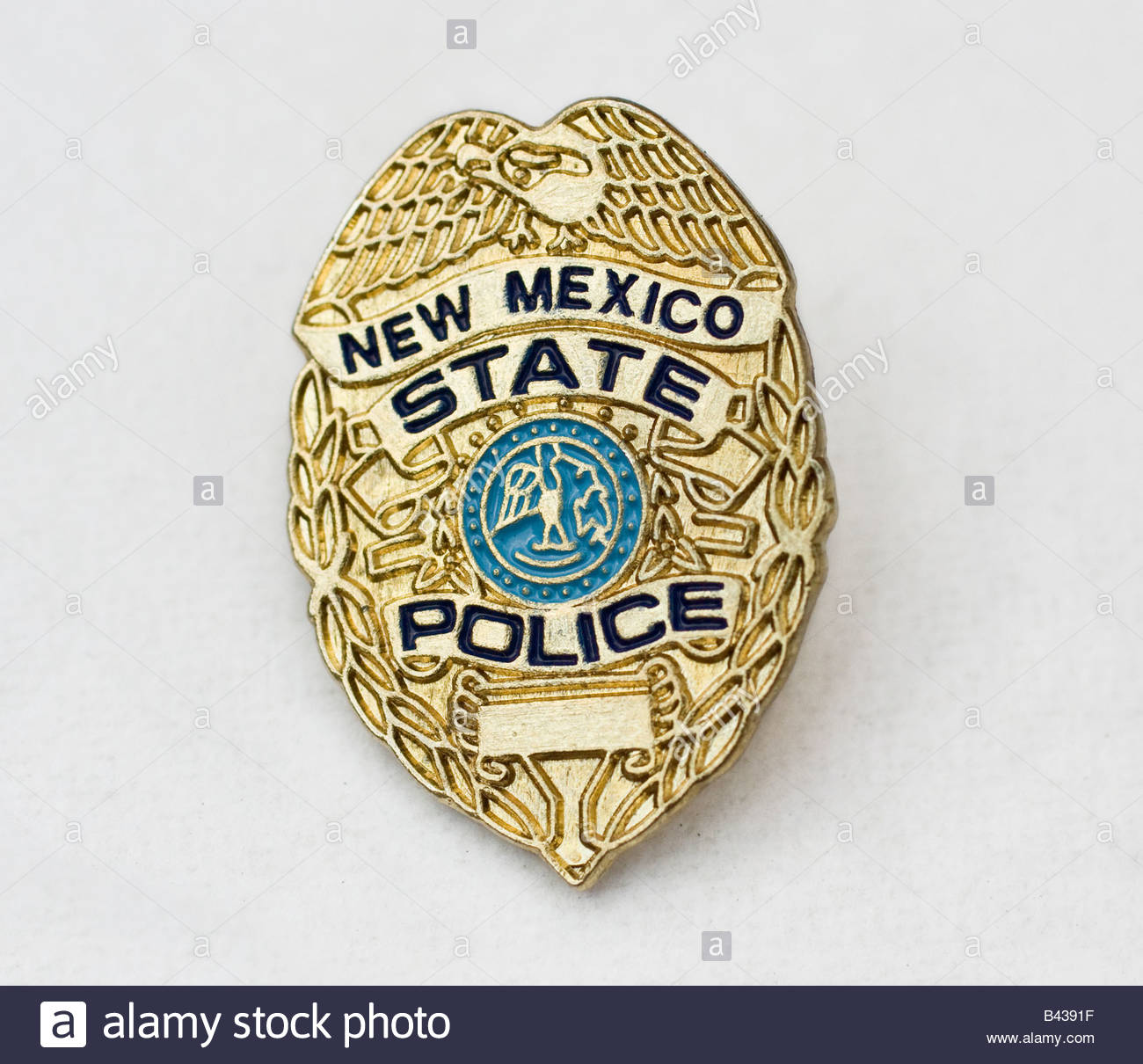 new mexico state police badge stock photo royalty free image