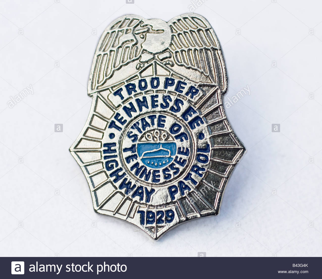 tennessee highway patrol police badge stock photo royalty free