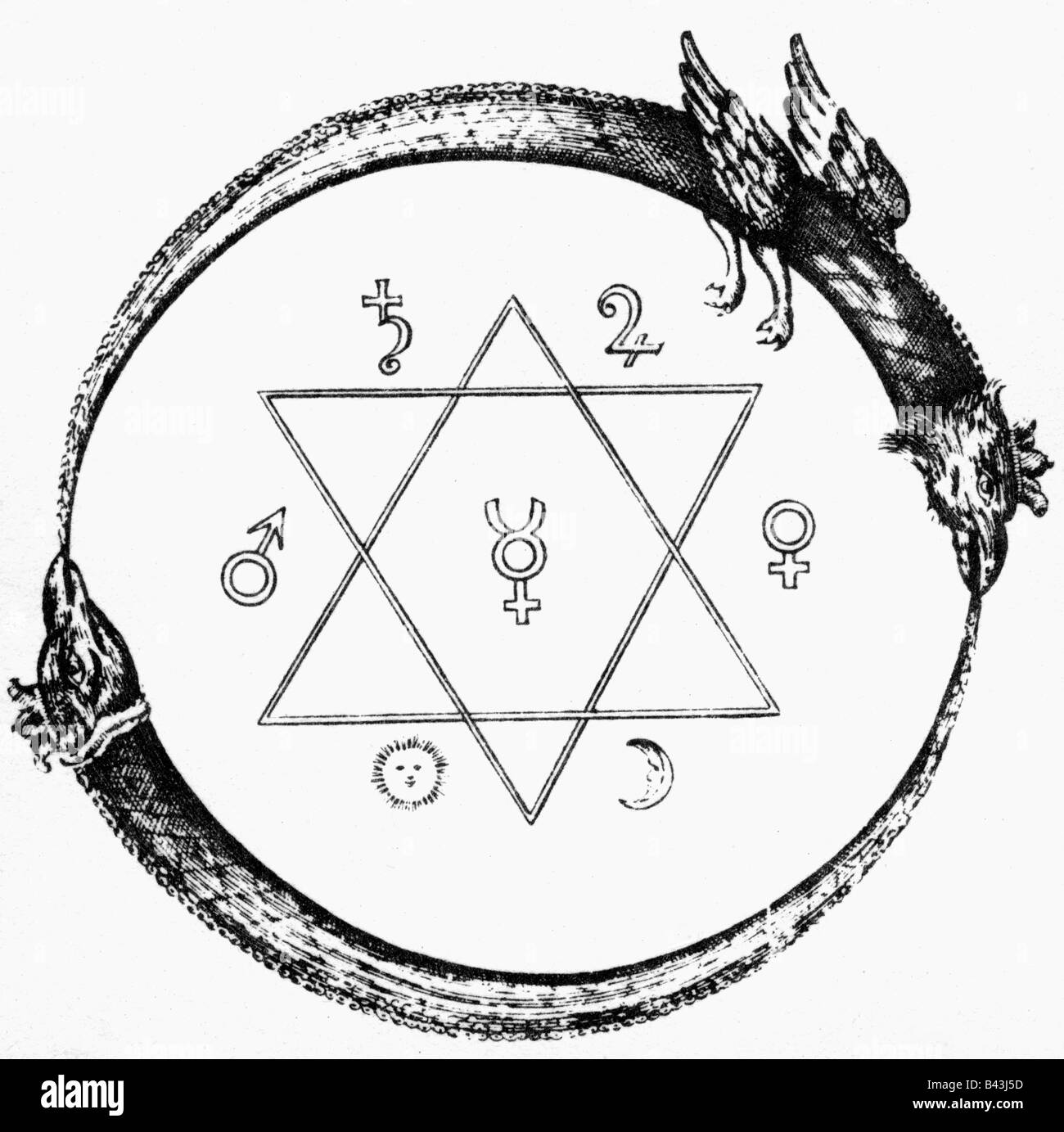 Alchemy symbols stock photos alchemy symbols stock images alamy alchemy symbols annulus platonis seal of solomon copper engraving 1723 biocorpaavc Image collections