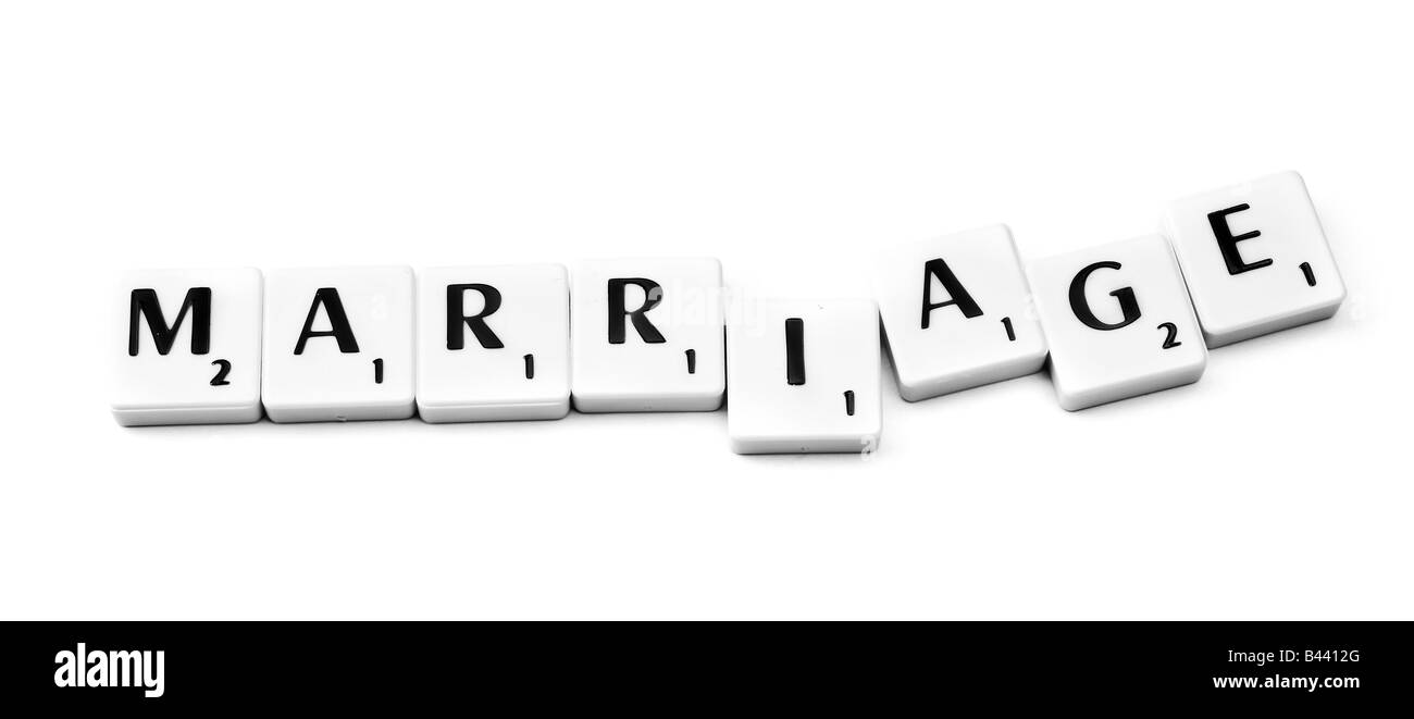 Plastic letters forming the word marriage Stock Photo ...