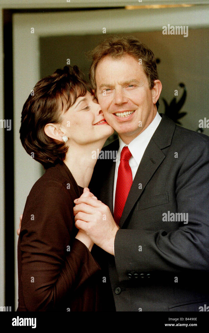 Receives A Kiss From His Wife Stock s & Receives A Kiss From