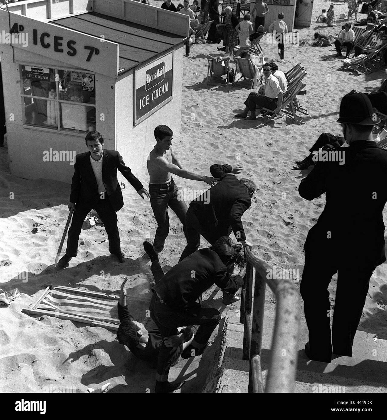 Mods and Rockers clashed in the holiday resort of Margate in Kent ...