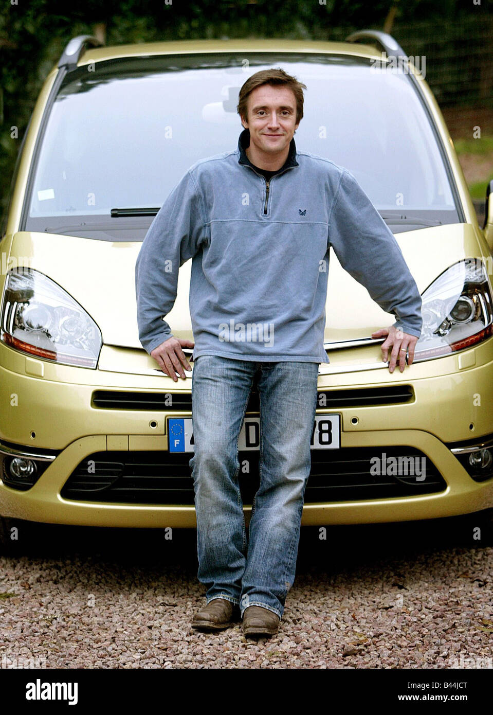 richard hammond test drives new citroen but from passenger seat as he stock photo royalty free. Black Bedroom Furniture Sets. Home Design Ideas
